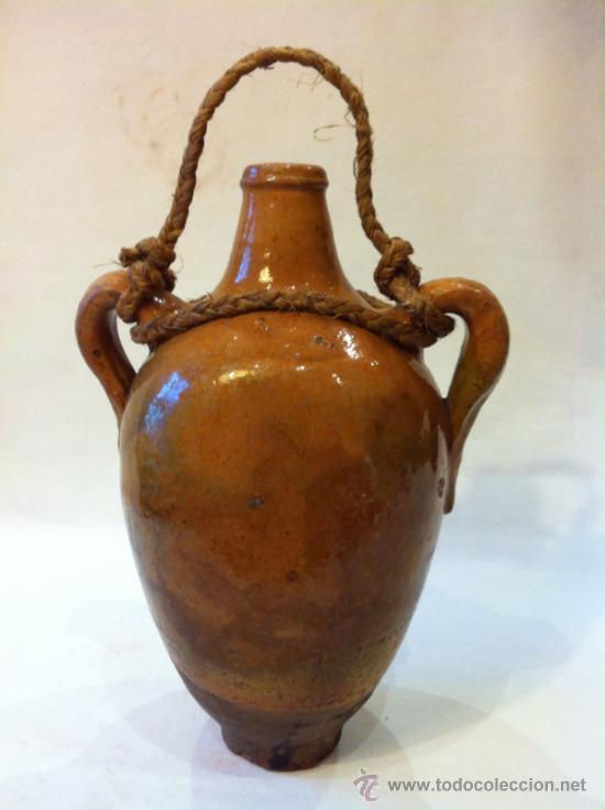 Antigüedades: ALFARERÍA POPULAR MANCHEGA - BOTIJA ACEITERA DE CUENCA - Foto 4 - 36864679