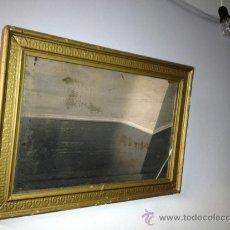 Antigüedades: MUY ANTIGUO ESPEJO CON MARCO. Lote 36871108