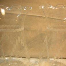 Antigüedades: TULIPA CRISTAL TALLADO 21CM ALTO LOTE DE 5 TULIPAS. Lote 36872071