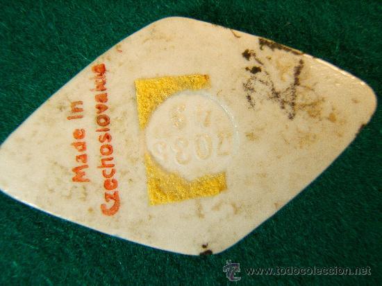 Antigüedades: PINTURA 2 PORCELANAS ROMBOIDES PARA CAMAFEOS O BROCHES - 5X3 CM - NUMERADAS Y FIRMADAS - SIGLO XX. - Foto 4 - 36874671