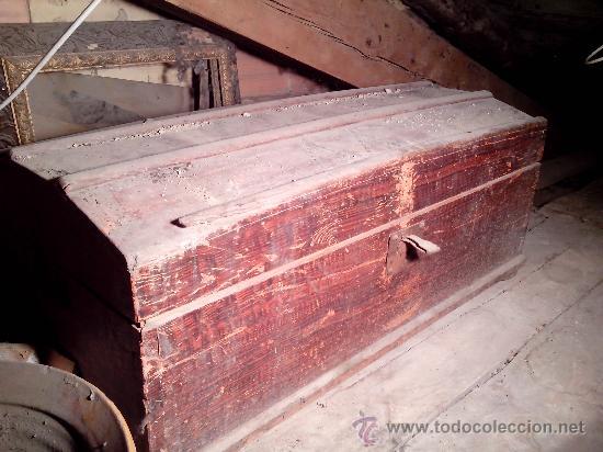 Gran ba l de madera s xix a restaurar comprar ba les - Restaurar baules antiguos ...
