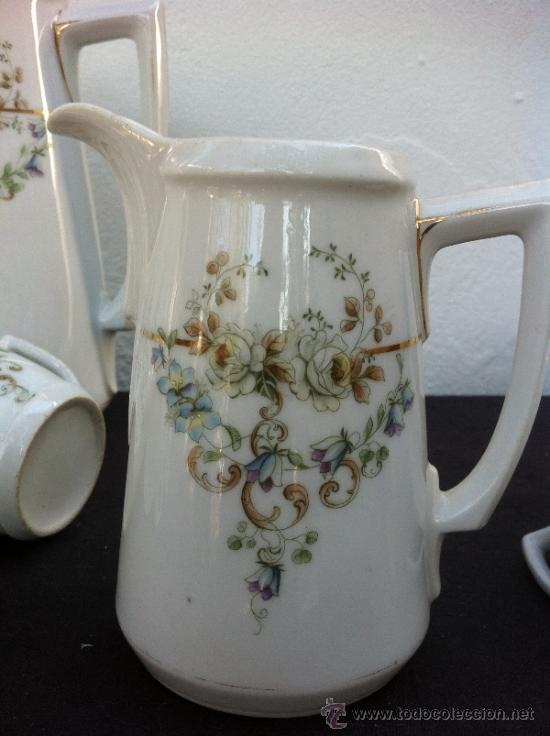 Antigüedades: JUEGO ANTIGUO DE CAFÉ EN PORCELANA SIGLO XIX (1810-30) - Foto 5 - 36916825