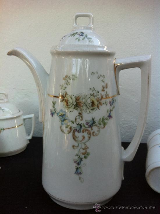 Antigüedades: JUEGO ANTIGUO DE CAFÉ EN PORCELANA SIGLO XIX (1810-30) - Foto 12 - 36916825