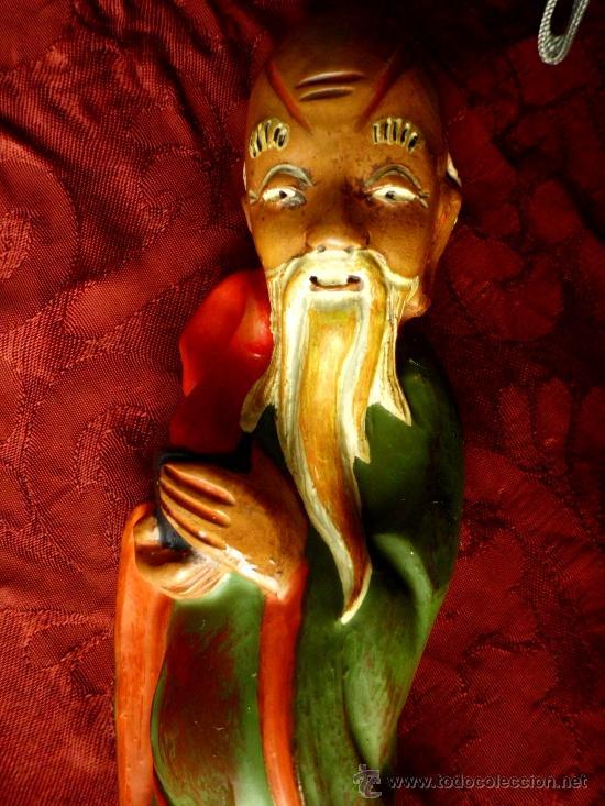 Antigüedades: Figura china de Barro - Foto 5 - 36897194