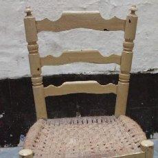 Antigüedades: SILLA DE MADERA CON ASIENTO DE ENEA SILLA-004. Lote 36904320