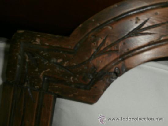 Antigüedades: Antiguo y Precioso Marco Tallado de Madera - Foto 3 - 36923352