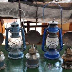 Antigüedades: LOTE DE 7 LUCES DE CARBURO. Lote 36973346