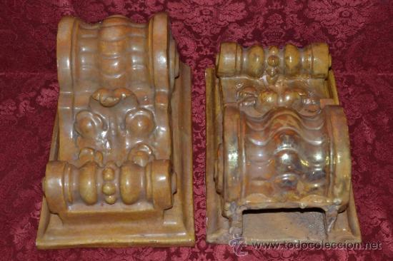 Antigüedades: MAGNIFICA PAREJA DE CANES REFLEJOS DORADOS EN CERAMICA DE TRIANA,(SEVILLA) - Foto 10 - 36945318