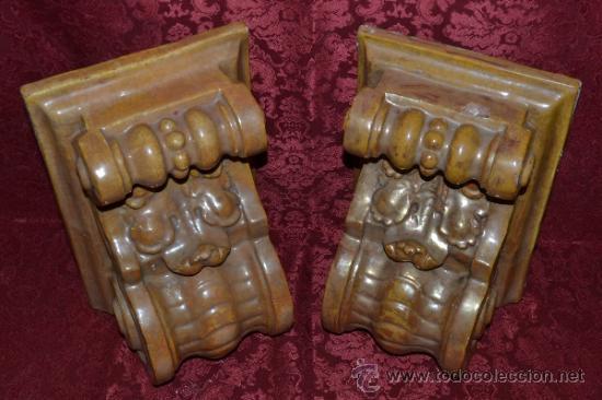 Antigüedades: MAGNIFICA PAREJA DE CANES REFLEJOS DORADOS EN CERAMICA DE TRIANA,(SEVILLA) - Foto 19 - 36945318