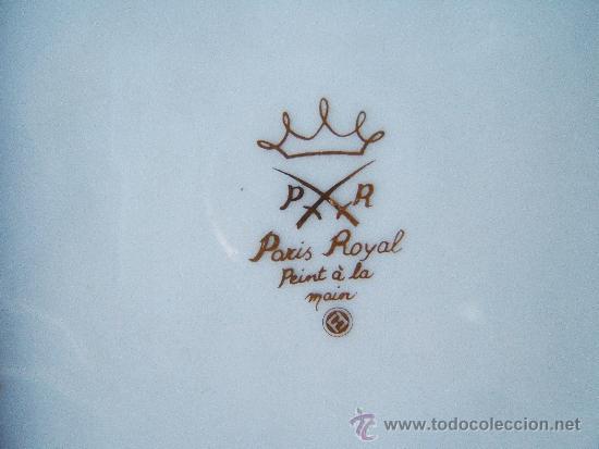 Antigüedades: BANDEJITA DE PORCELA DE PARIS ROYAL PINTADA A MANO - 16X16 CM - SELLADA - MEDIADOS SIGLO XX ? - Foto 2 - 36950092