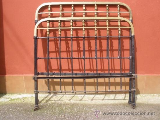 Antigua cama de hierro y lat n 130cm comprar camas antiguas en todocoleccion 36955361 - Camas de hierro antiguas ...
