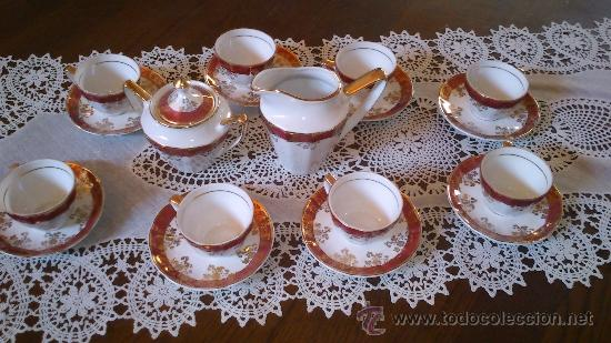 JUEGO DE CAFÉ 8 PIEZAS (Antigüedades - Porcelanas y Cerámicas - Otras)