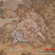 Antigüedades: IMPRECIONANTE TAPIZ FRANCES ENMARCADO CON MARCO DE MADERA TAPIZADO. . Lote 36963715