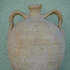 Antigüedades: BOTIJA, CANTARILLA O CÁNTARO PEQUEÑO ANTIGUO -S. XIX-, ALFAR DE LUCENA. 31,5 CMS DE ALTURA.. Lote 36967673