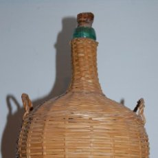 Antigüedades: GARRAFA CRISTAL FORRADA. Lote 36968330