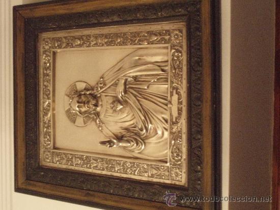 Antigüedades: CUADRO DEL CORAZON DE JESUS - Foto 2 - 36977892