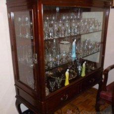 Antigüedades: VITRINA DE CAOBA. Lote 36990140