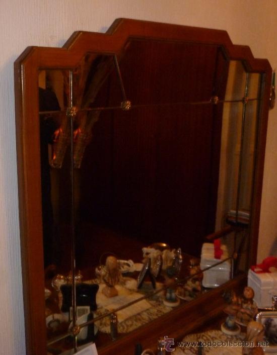 Antigüedades: DORMITORIO, TRES PIEZAS Y ESPEJO - Foto 5 - 36988949