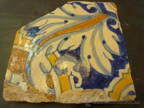 AZULEJO DE MANISES AZUL (Antigüedades - Porcelanas y Cerámicas - Manises)