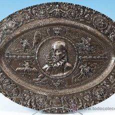 Antigüedades: ENORME BANDEJA DE PLATA. Lote 37002692