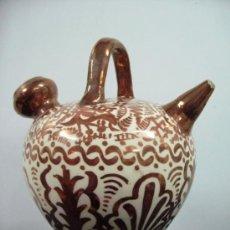 Antigüedades: ANTIGUO BOTIJO SIGLO XIX CERAMICA REFLEJOS MANISES. Lote 37017402