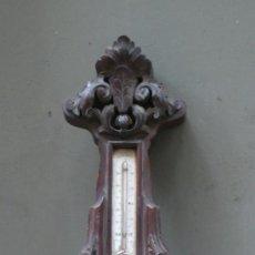 Antigüedades: BARÓMETRO DEL S. XIX ALFONSINO CON MUCHA CARCOMA, 87 CM DE ALTO, .. Lote 37031115