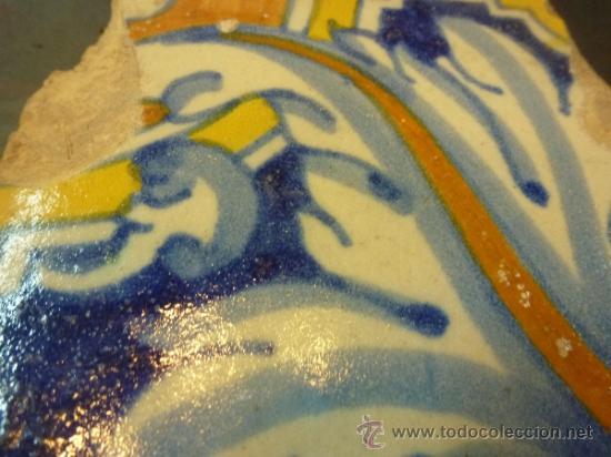 Antigüedades: azulejo de manises azul - Foto 7 - 37000007