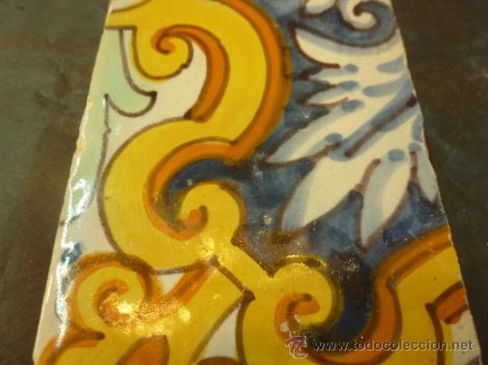 Antigüedades: azulejo de manises azul - Foto 6 - 36999983