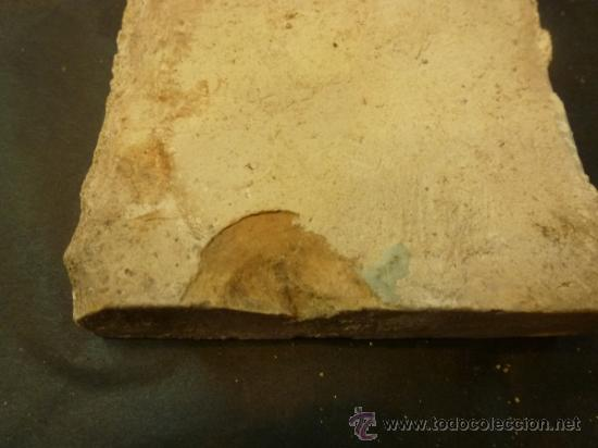Antigüedades: azulejo de manises azul - Foto 3 - 36999983