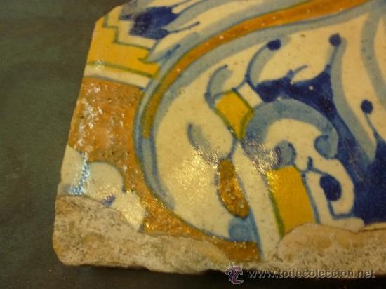 Antigüedades: azulejo de manises azul - Foto 8 - 36999961