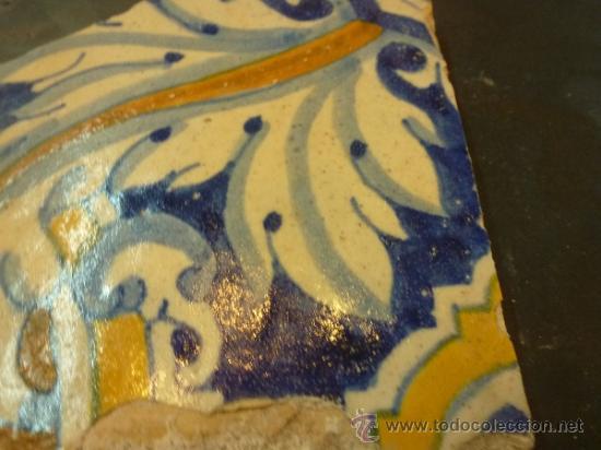Antigüedades: azulejo de manises azul - Foto 6 - 36999961