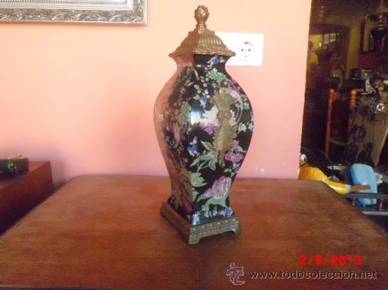 Antigüedades: PRECIOSO JUEGO DE JARRONES EN PORCELANA CUARTEADA Y BRONCE - Foto 6 - 37054574