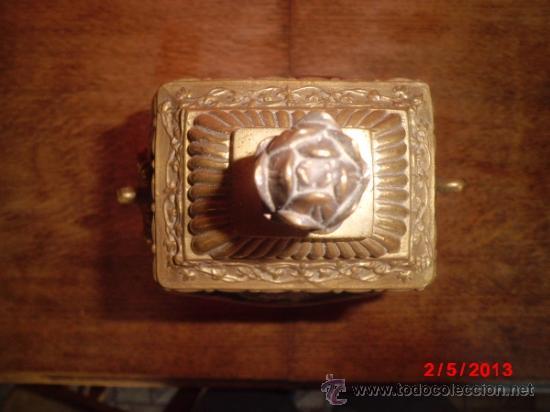 Antigüedades: PRECIOSO JUEGO DE JARRONES EN PORCELANA CUARTEADA Y BRONCE - Foto 3 - 37054574