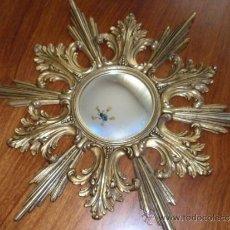 Antigüedades: ESPEJO DE BRONCE EN FORMA DE SOL DE PERIS ANDREU. Lote 37060792