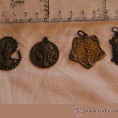 Antigüedades: 4 ANTIGUAS MEDALLAS RELIGIOSAS DEL PILAR. Lote 37064142