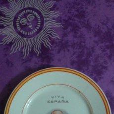 Antigüedades: PLATO PORCELANA QUEIPO DE LLANO. Lote 37066656