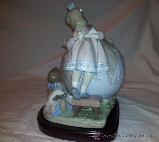 Antigüedades: Figura Lladro limitada El viaje de Colon, porcelana viaje niños-numero-serie ceramica expo92-españa - Foto 3 - 37070414
