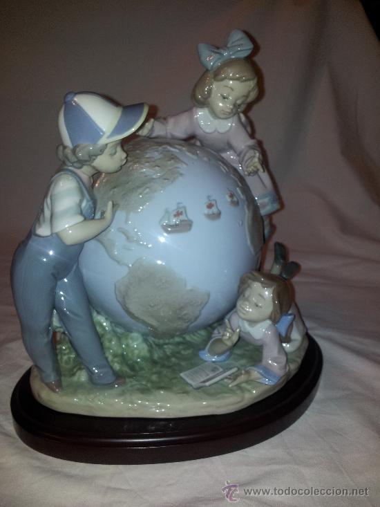 Antigüedades: Figura Lladro limitada El viaje de Colon, porcelana viaje niños-numero-serie ceramica expo92-españa - Foto 6 - 37070414