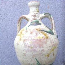 Oggetti Antichi: ANTIGUO CANTARO DE NIJAR, VIDRIADO, PIEZA DE COLECCION. Lote 37080026
