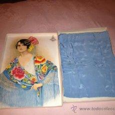Antigüedades: PRECIOSO MANTON TIPO MANILA EN SU CAJA ORIGINAL.!!!VER FOTOS!!!. Lote 37082539