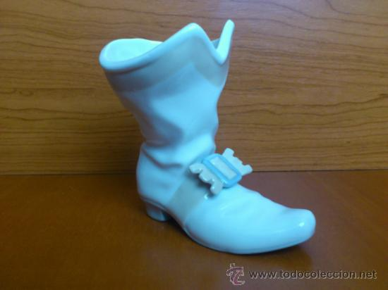 Antigüedades: Bota mosquetero en porcelana fina Nao By LLadró - Foto 2 - 37112994