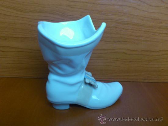 Antigüedades: Bota mosquetero en porcelana fina Nao By LLadró - Foto 4 - 37112994