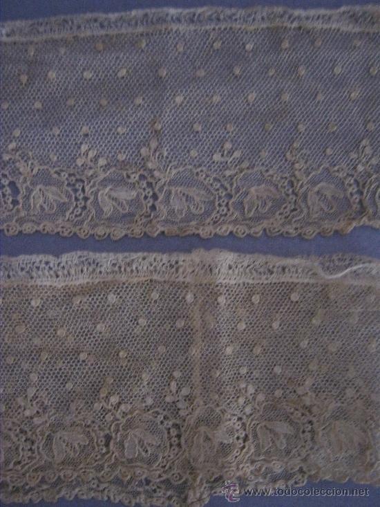 ANTIGUO ENCAJE DE ALENÇON PUNTO AGUJA S. XVIII (Antigüedades - Moda - Encajes)