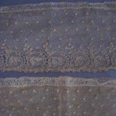 Antigüedades: ANTIGUO ENCAJE DE ALENÇON PUNTO AGUJA S. XVIII. Lote 37093581