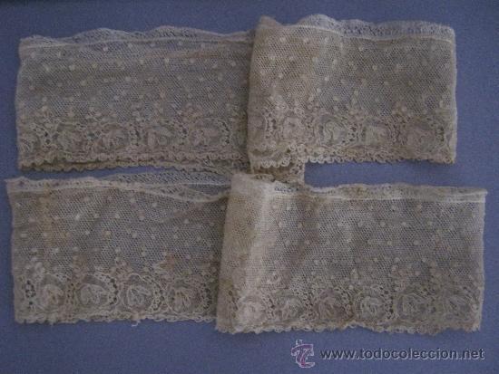 Antigüedades: ANTIGUO ENCAJE DE ALENÇON PUNTO AGUJA S. XVIII - Foto 2 - 37093581