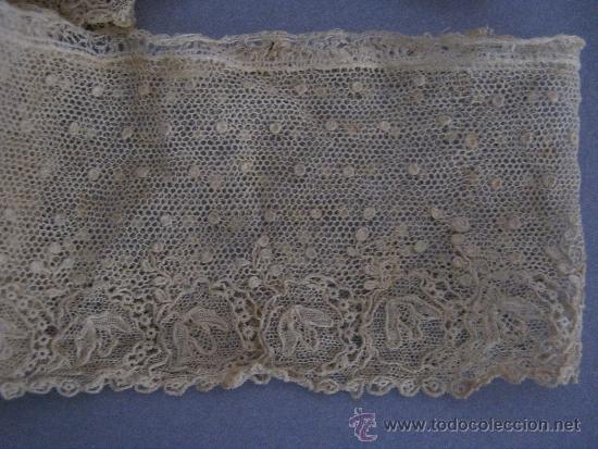 Antigüedades: ANTIGUO ENCAJE DE ALENÇON PUNTO AGUJA S. XVIII - Foto 3 - 37093581