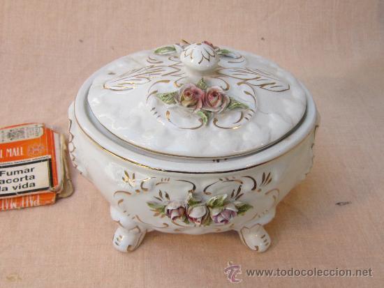 JOYERO EN PORCELANA (Antigüedades - Porcelanas y Cerámicas - Otras)