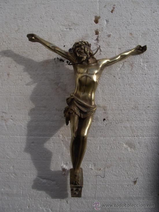 CRISTO DE BRONCE ANTIGUO (Antigüedades - Religiosas - Crucifijos Antiguos)