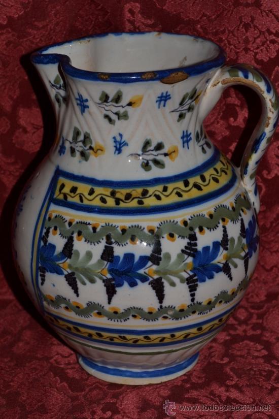 Antigüedades: PRECIOSA JARRA DE TALAVERA,VIRGEN DEL PRADO,S. XIX - Foto 2 - 37120357