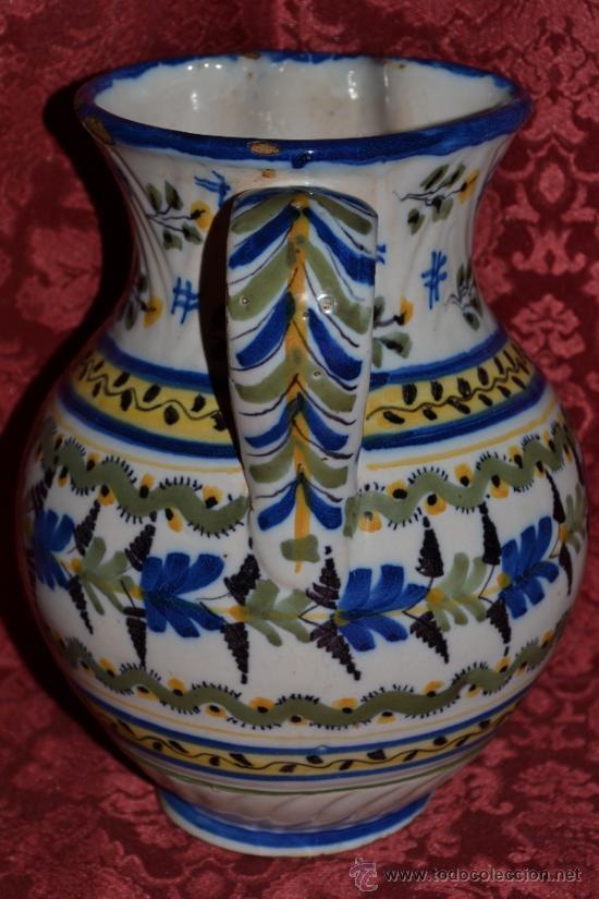 Antigüedades: PRECIOSA JARRA DE TALAVERA,VIRGEN DEL PRADO,S. XIX - Foto 3 - 37120357